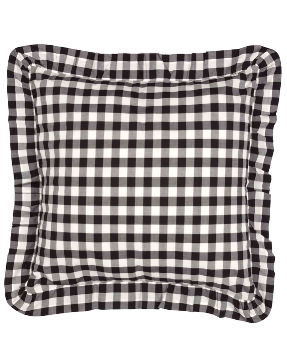 Gingham Euro Sham Black and White