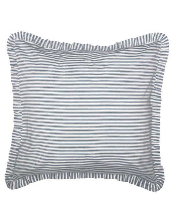 Blue Ticking Stripe Euro Sham
