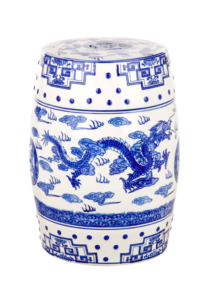 Superb Blue White Garden Stool Dragon Walmart Katie Considers Gmtry Best Dining Table And Chair Ideas Images Gmtryco