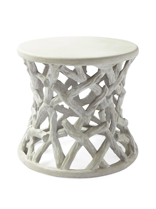 Faux Bois Outdoor Side Table