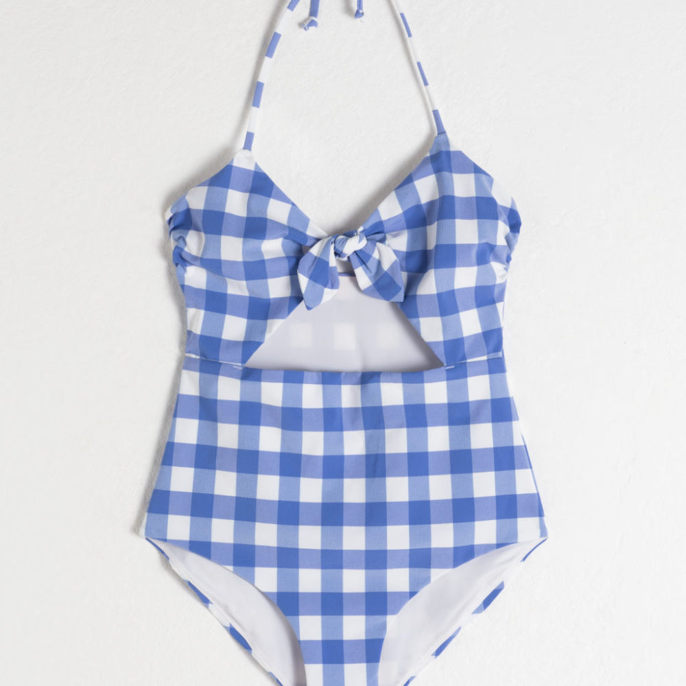 The Daily Hunt: Gingham Halter Swimsuit and more!