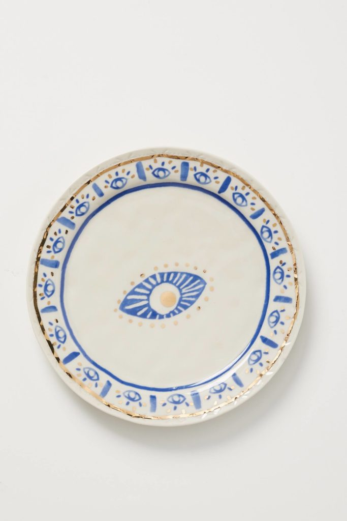 Hand Painted Stoneware Plate
