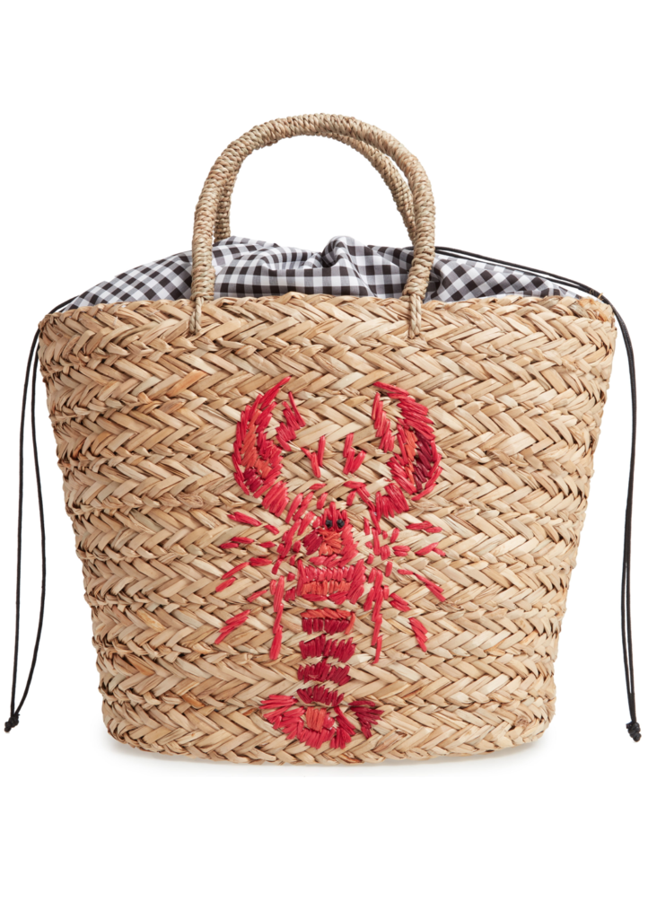 Lobster Woven Tote