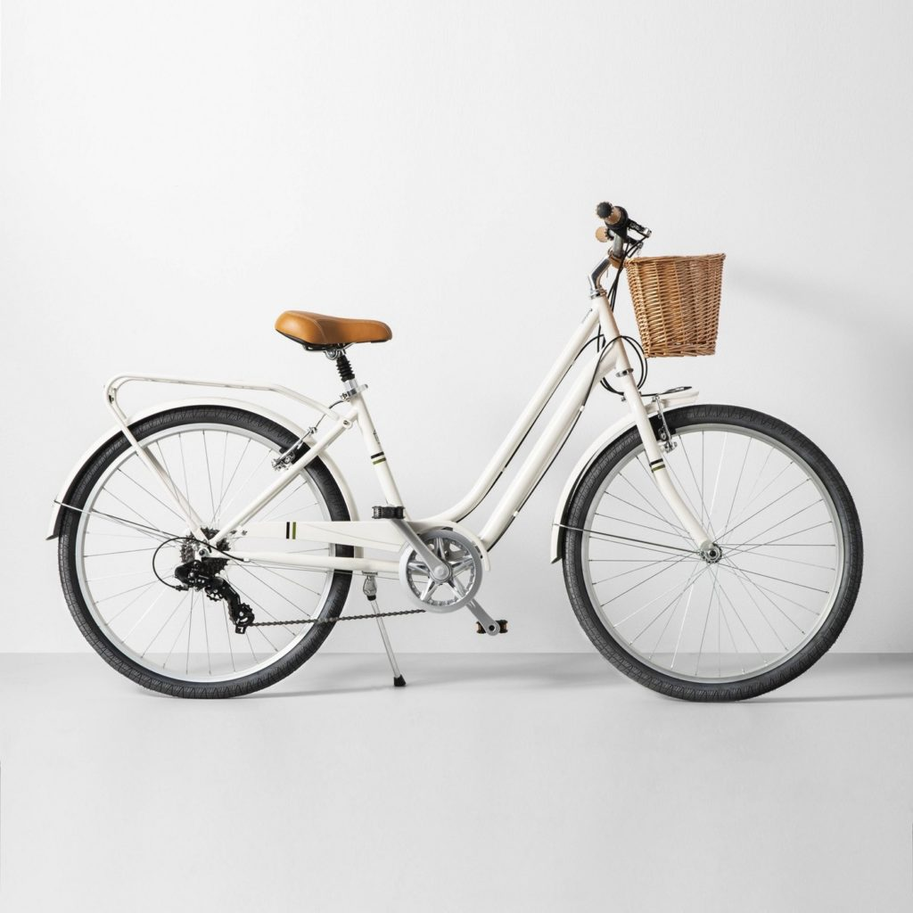 Wicker Basket Bike