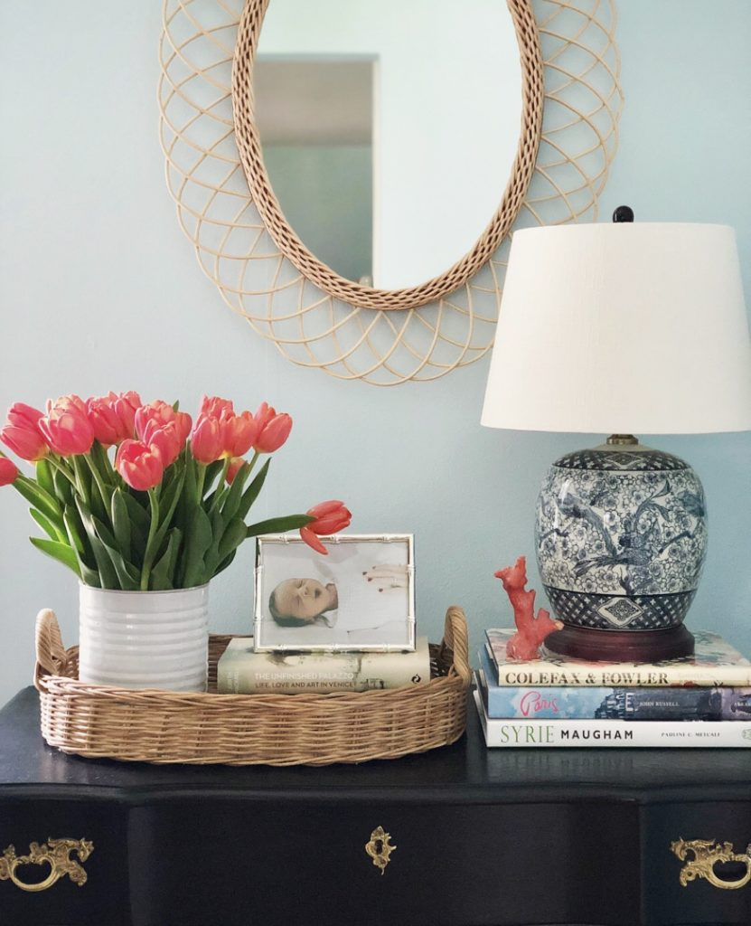 Rattan Mirror Drew Barrymore Flower Collection Walmart Blue and White Chinese Ginger Jar Table Lamp Vase of Tulips
