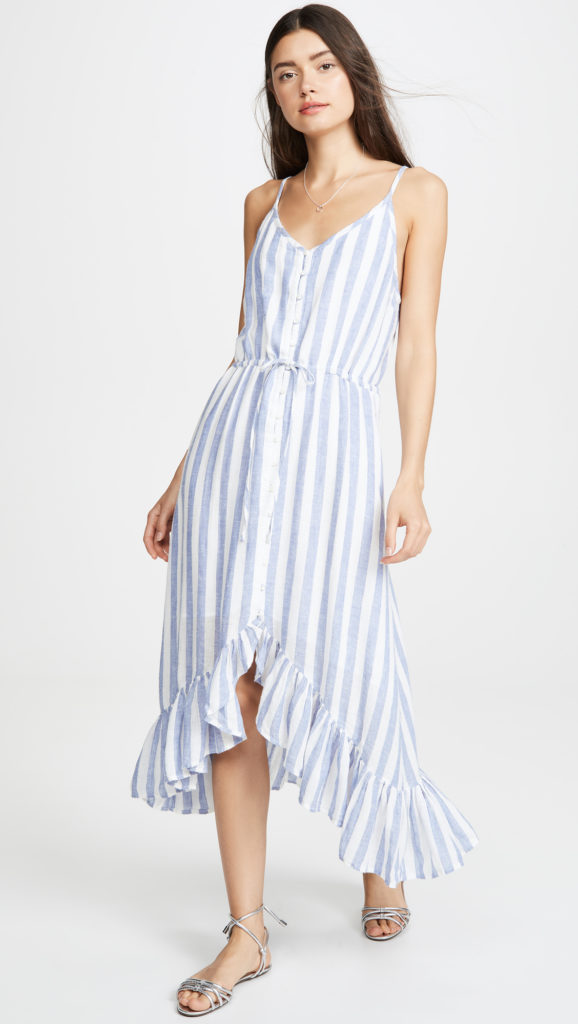 High Low Striped Dress