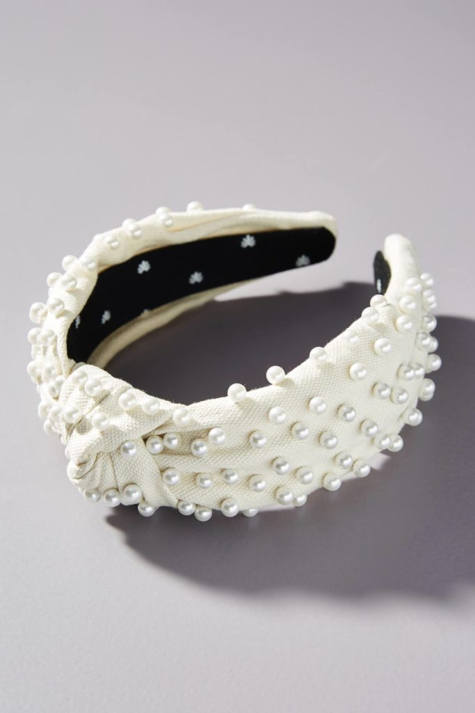 Faux Pearl Embellished Headband
