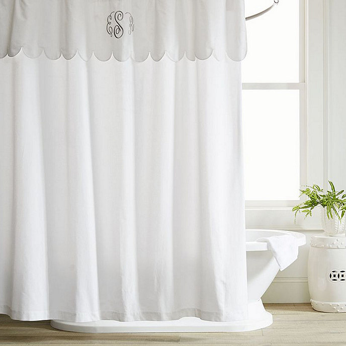 Scalloped Shower Curtain