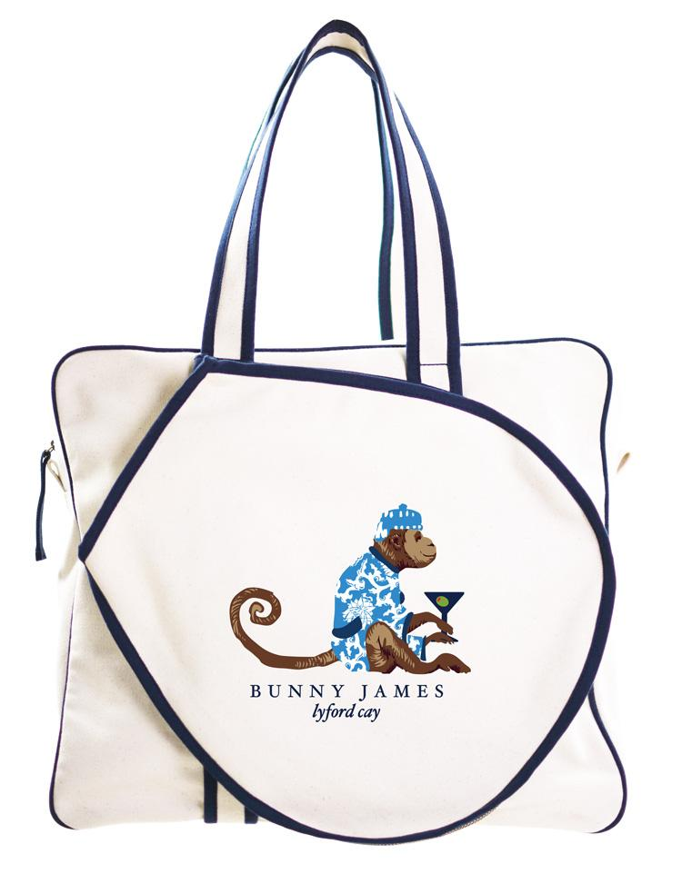 Cocktail Monkey Tennis Bag