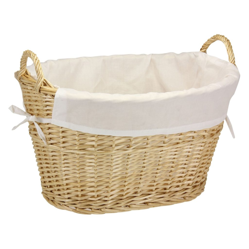 Willow Laundry Basket with Cotton Liner