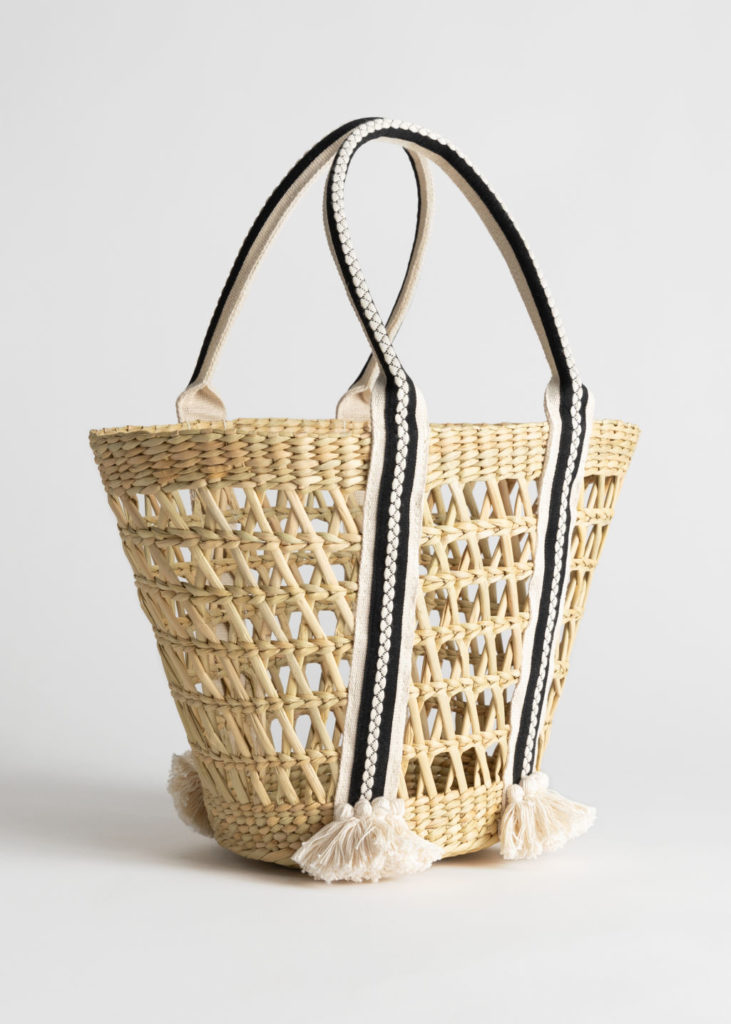 Woven Straw Bucket Bag