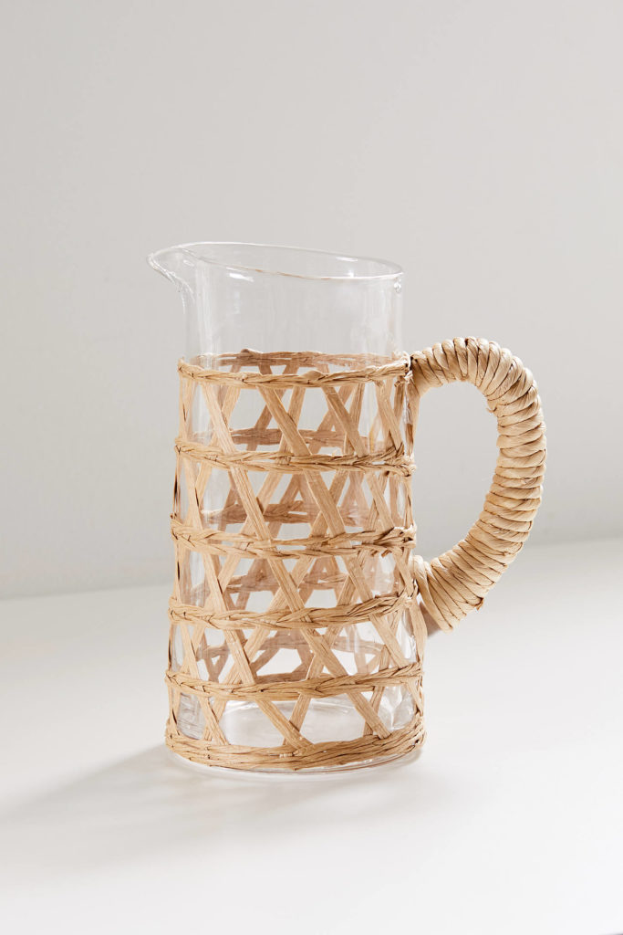 Glass Woven Pitcher