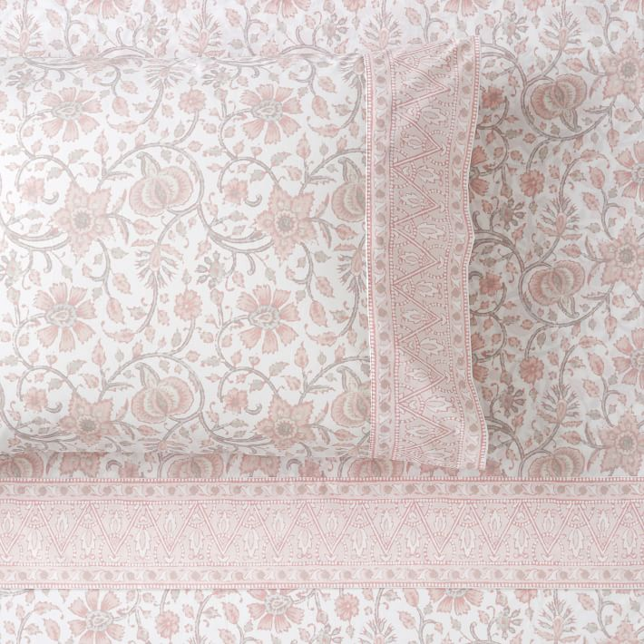 Pink Paisley Sheet Set