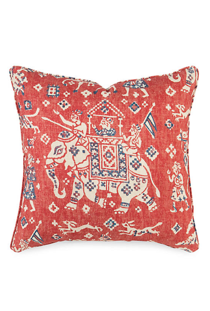 Elephant Motif Pillow