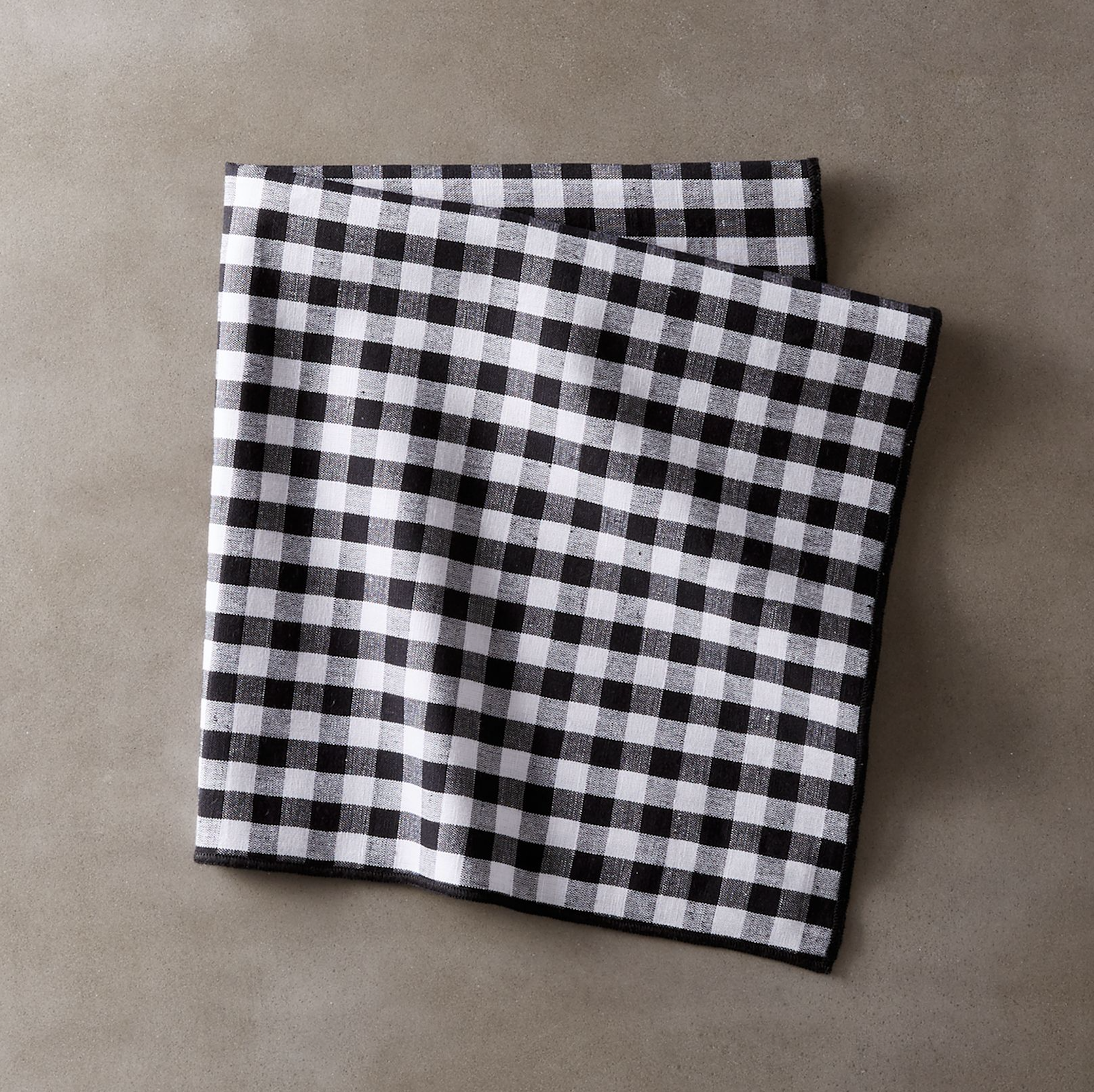 Black and White Gingham Napkin