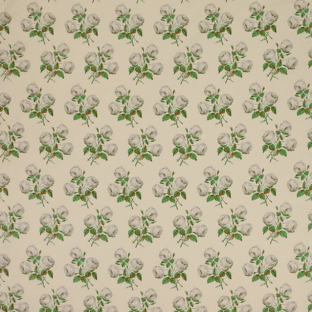 Bowood Chintz Colefax and Fowler Fabric Floral Textile Glazed Green