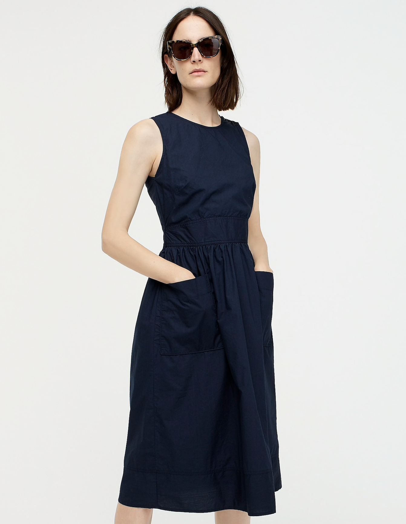 High Neck Dress with Pockets