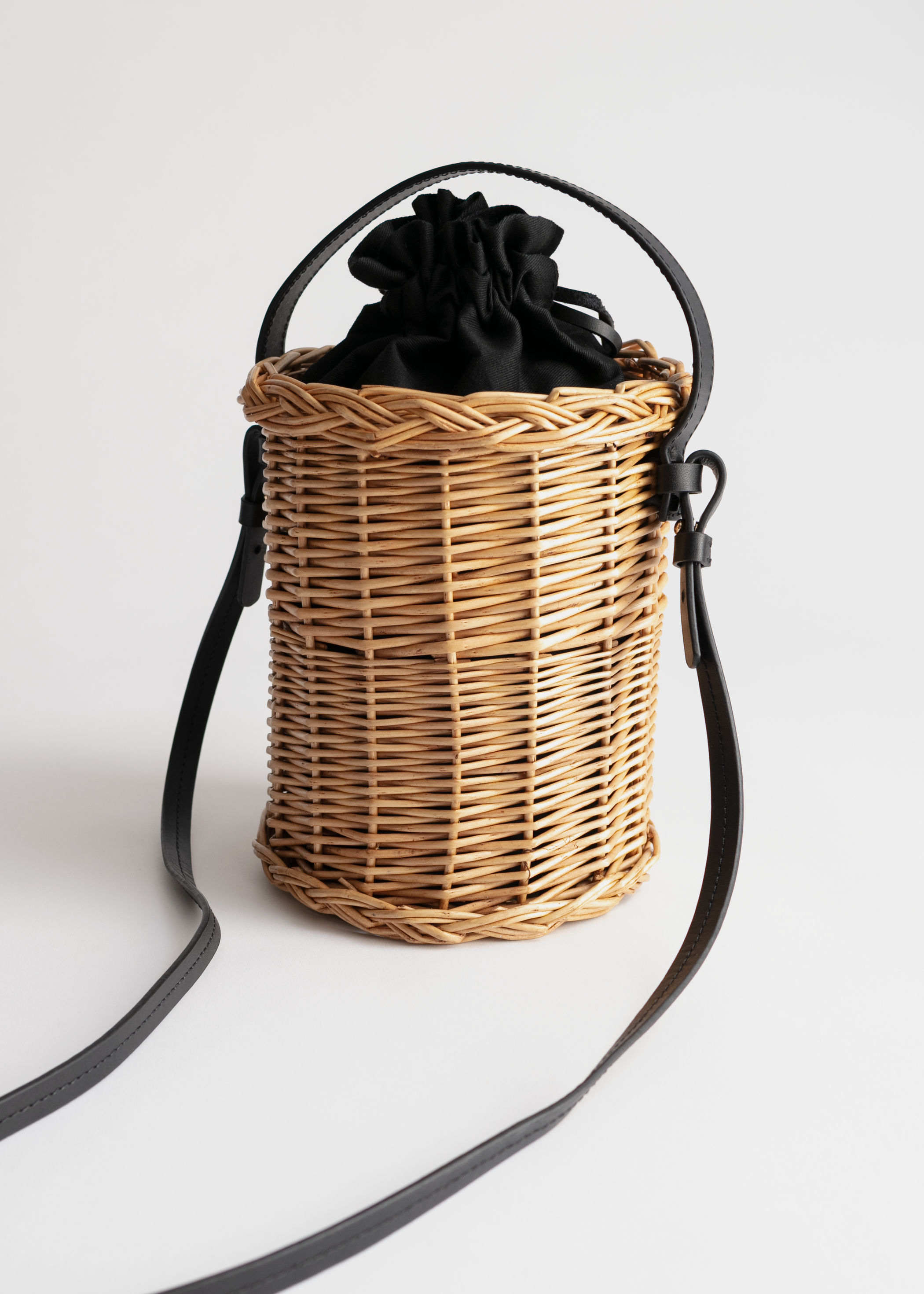 Cylinder Basket Bag