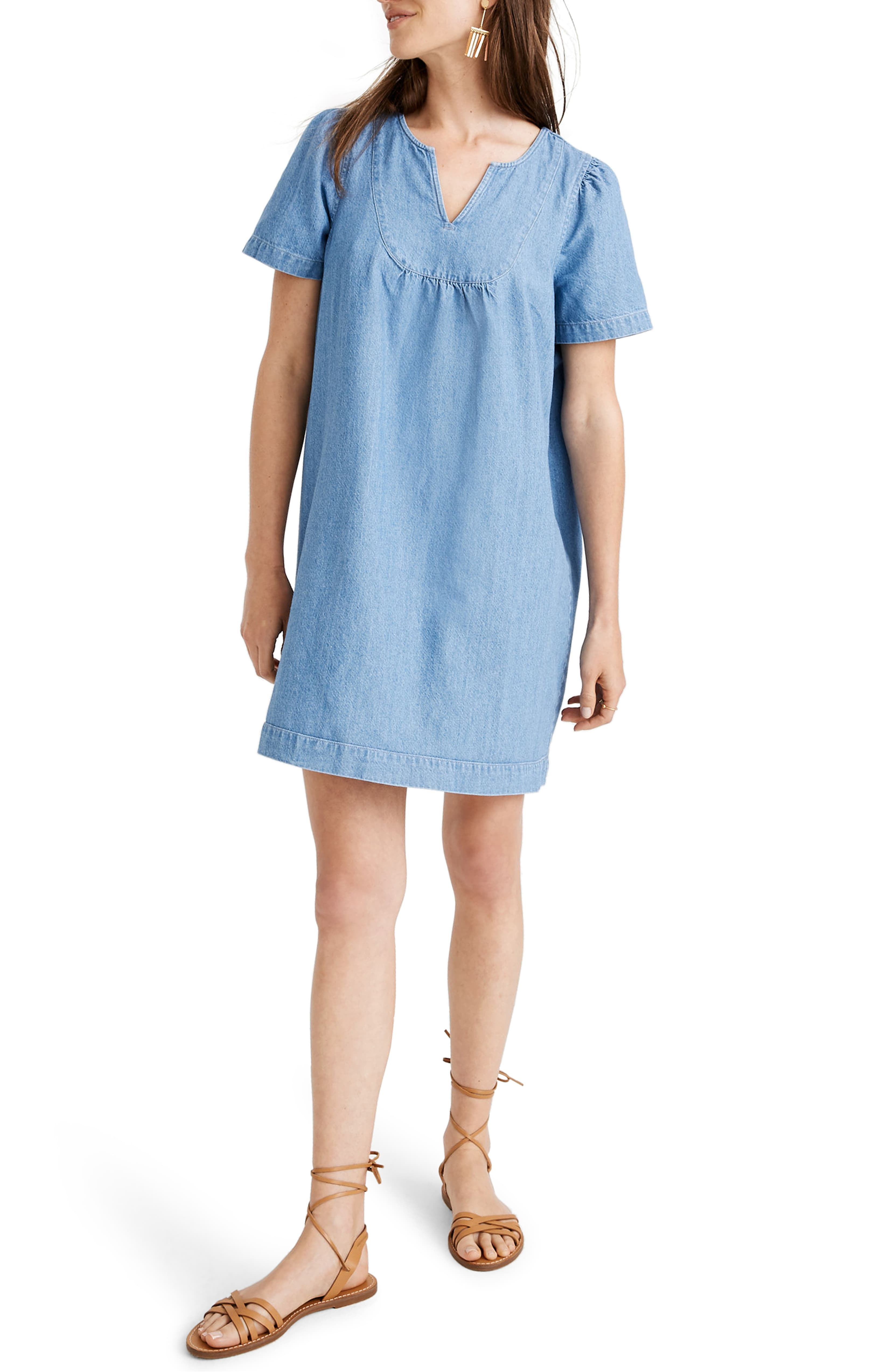 Denim Popover Swing Dress