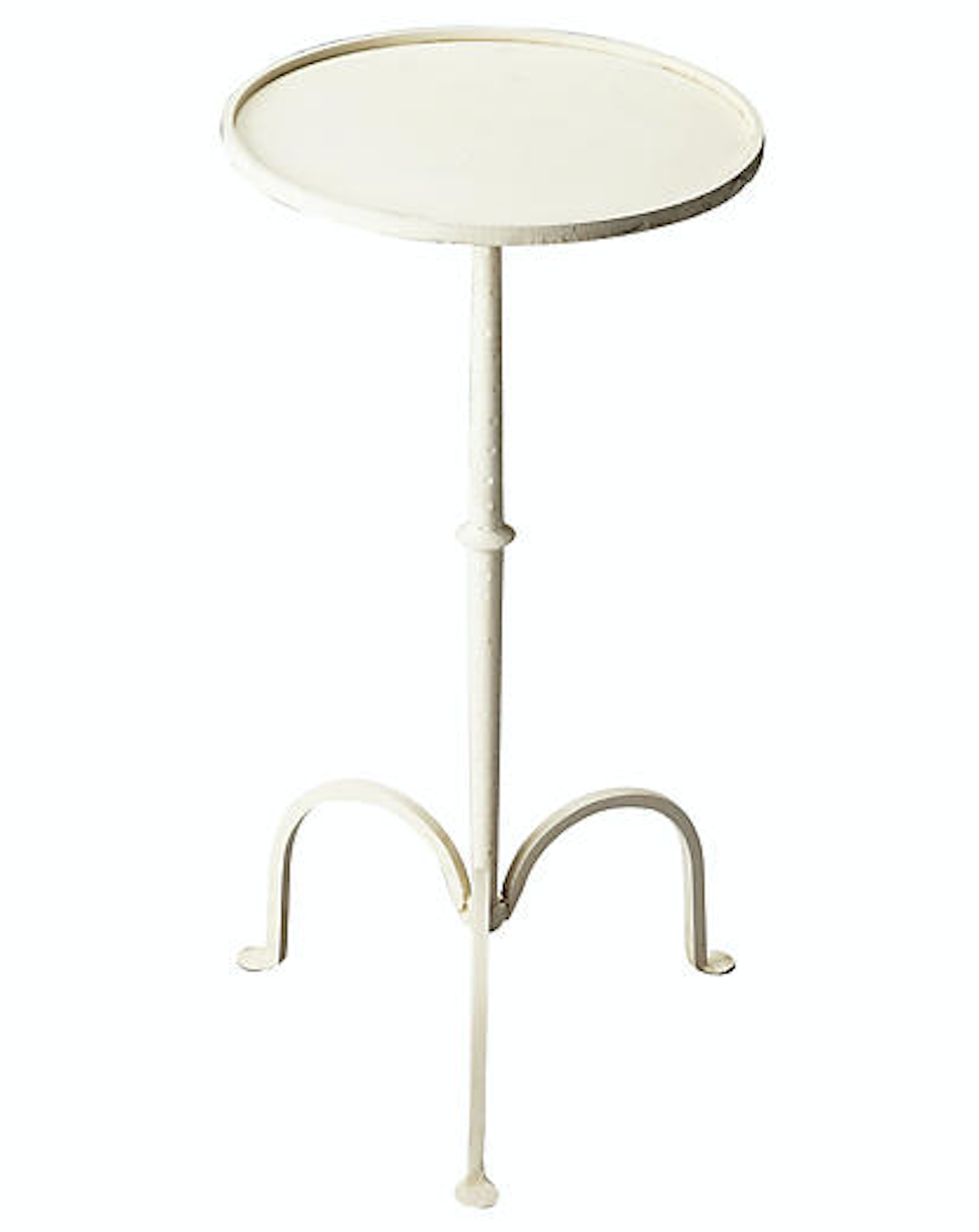 White Iron Side Table