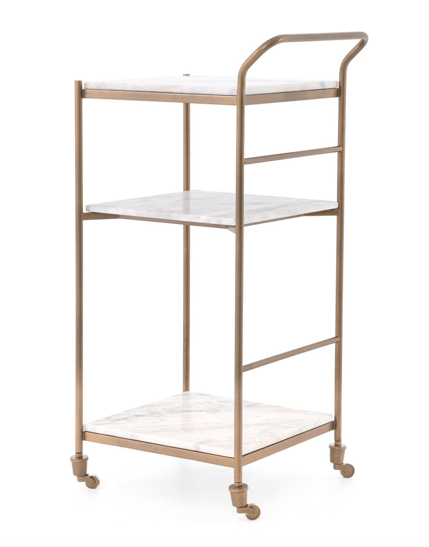 Tiered Marble Bar Cart