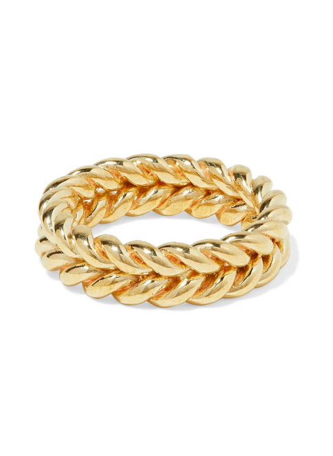 Gold Tone Ring Chain Link