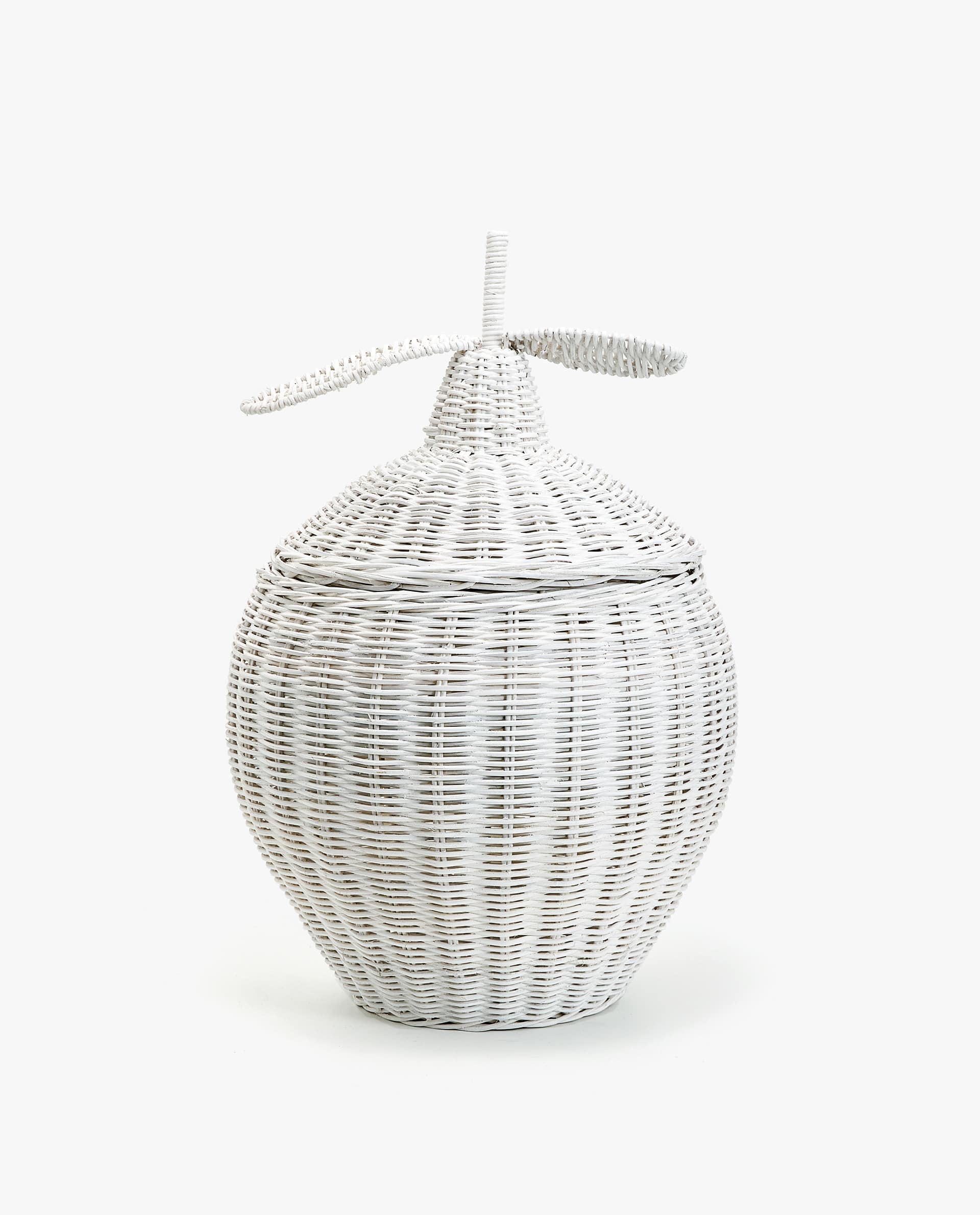 Lemon Shaped Woven Basket