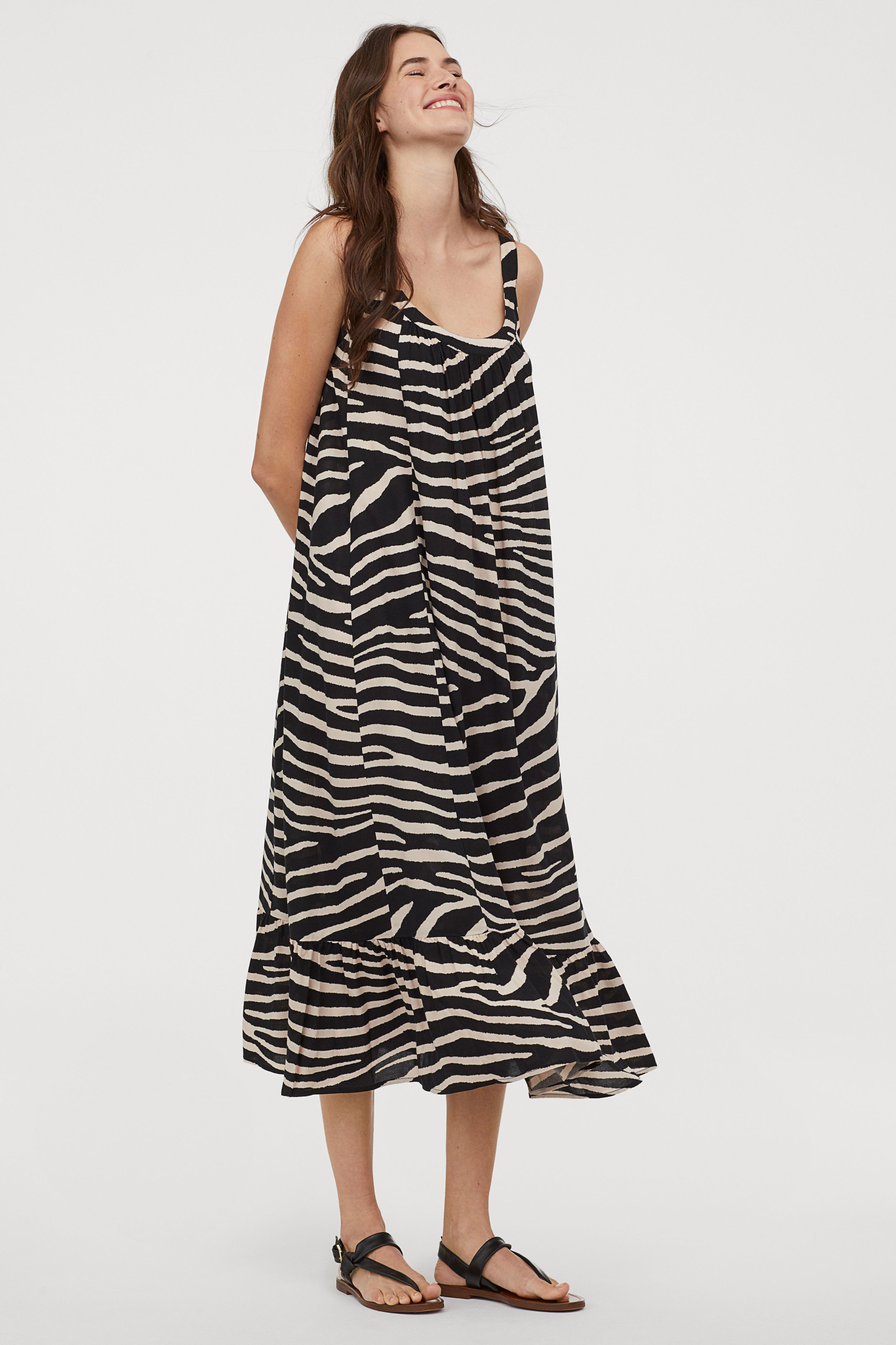 Long Zebra Print Dress