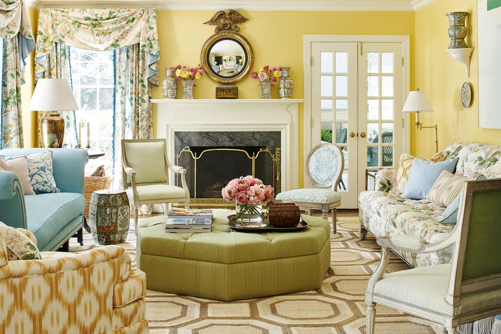 pictures of formal living rooms green paint color | mark-sikes-mountain-brook-alabama-ragan-cain-veranda ...