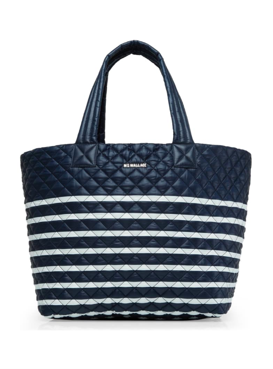 Stripe Quilted Large Metro Tote