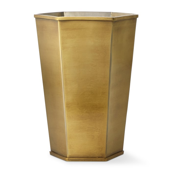Hexagonal Brass Vase