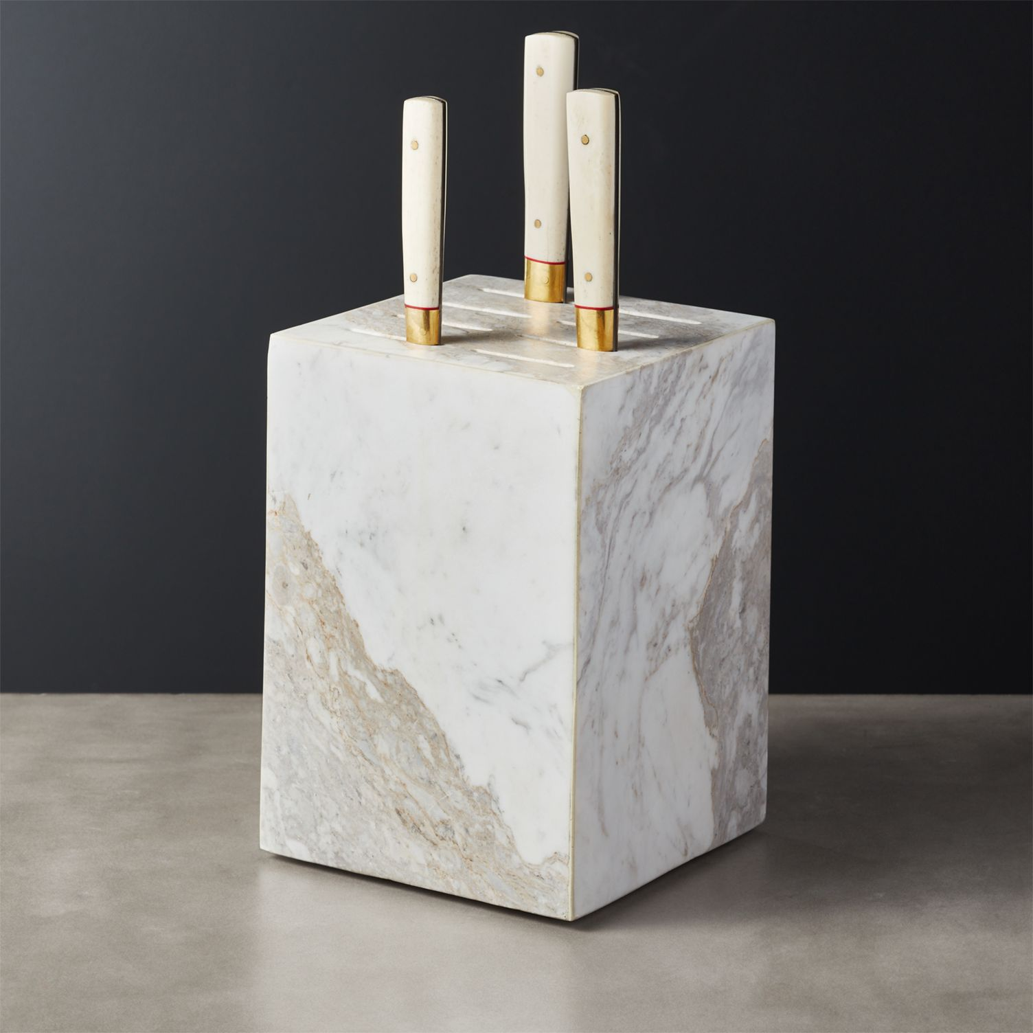 White Marble Pillar Block
