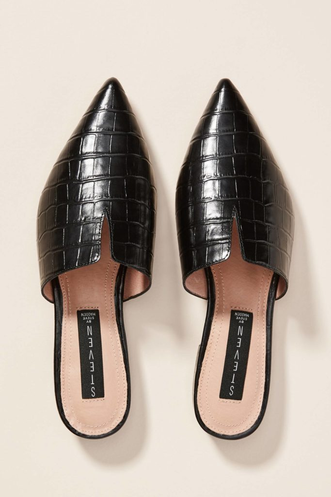 Pointed Toe Flats Mules