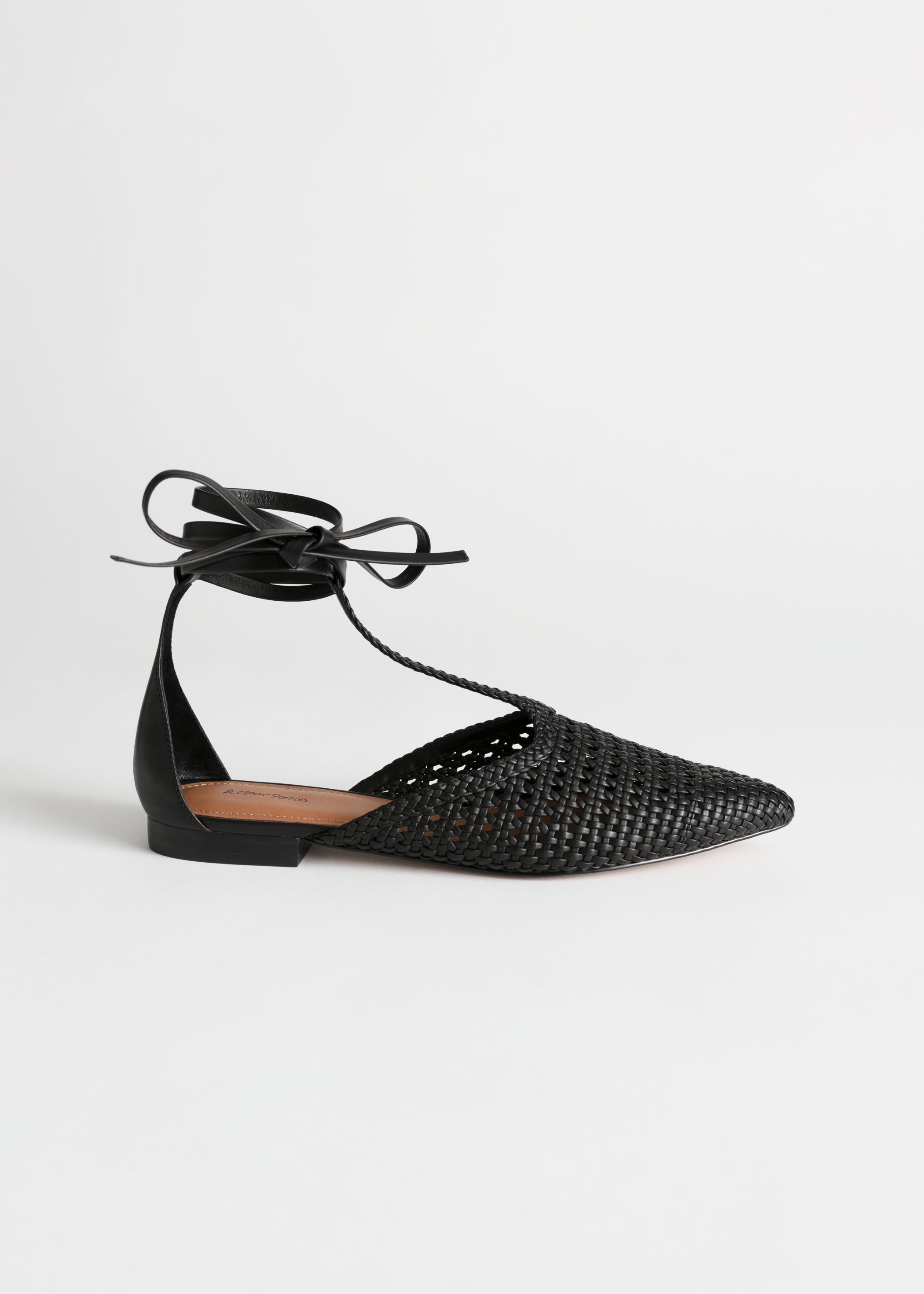 Woven Pointed Toe Flats