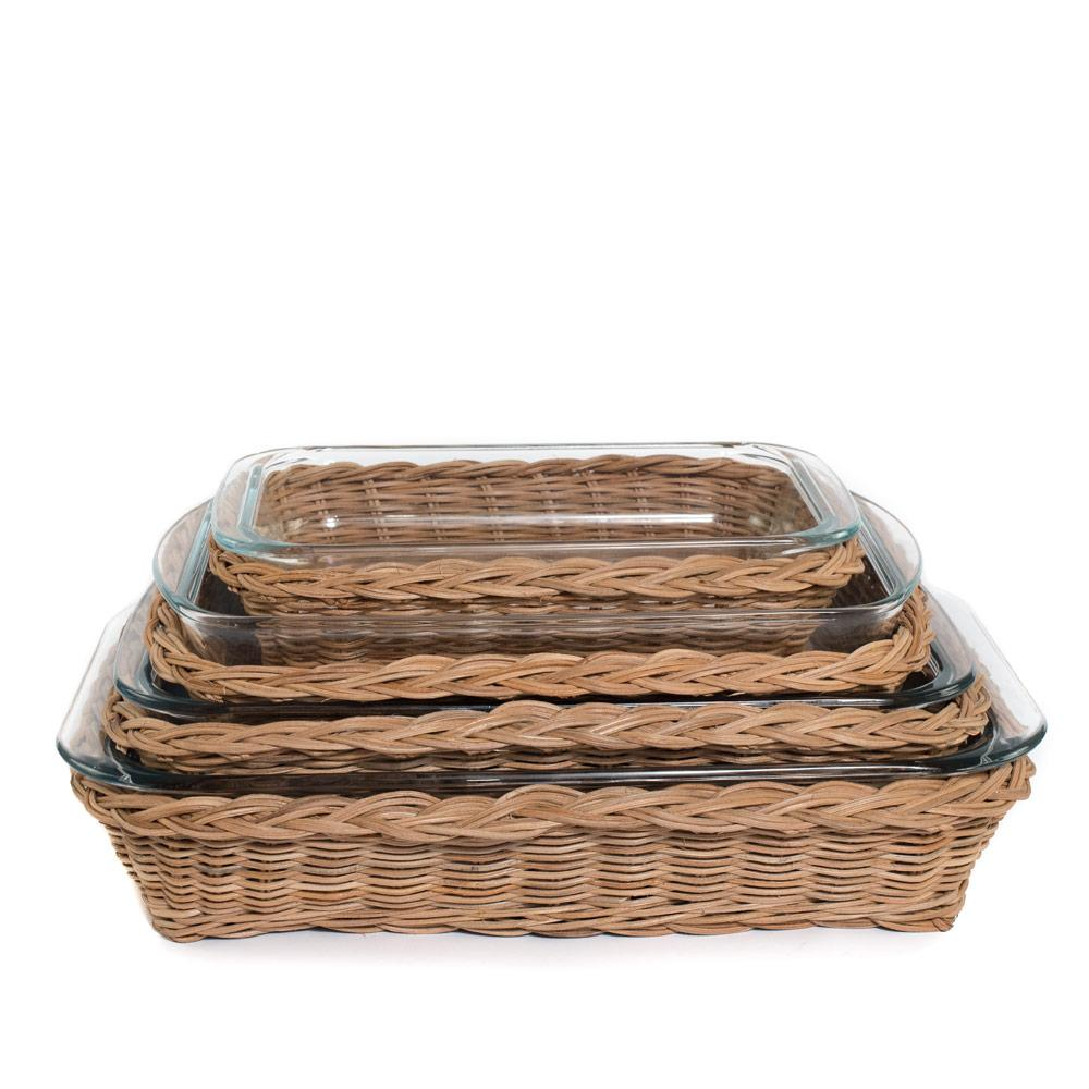 Wicker Baking Dishes