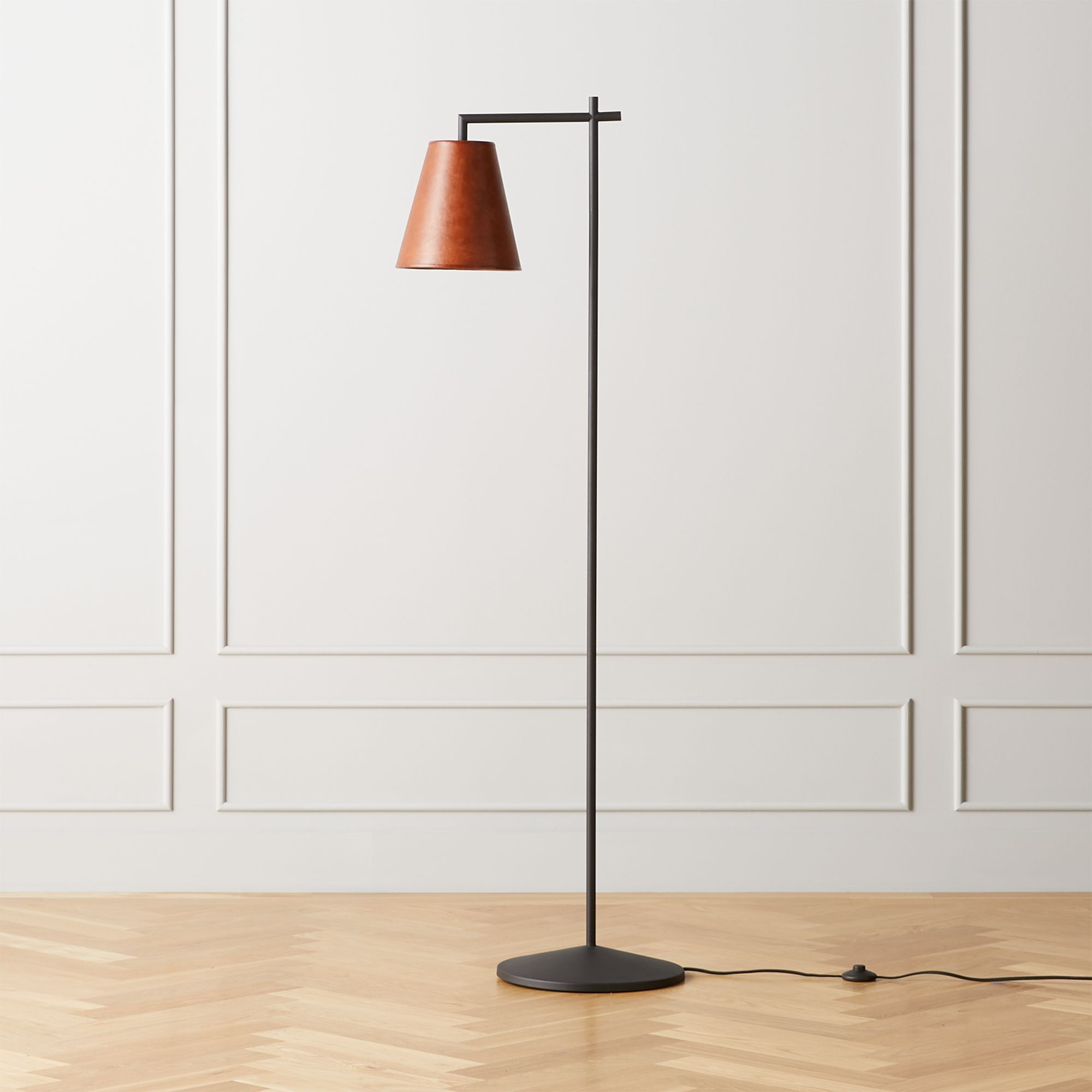 Leather Shade Floor Lamp