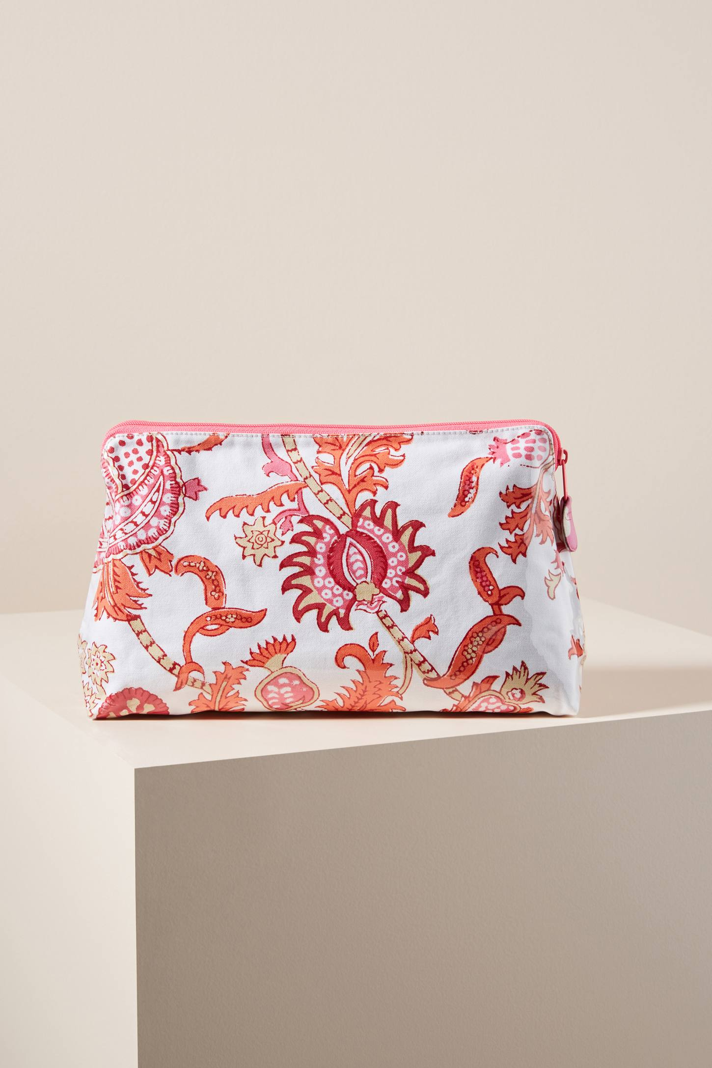 Orange Motif Cosmetic Bag