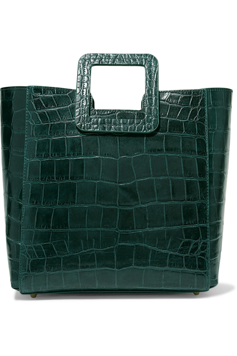 Croc Effect Leather Tote