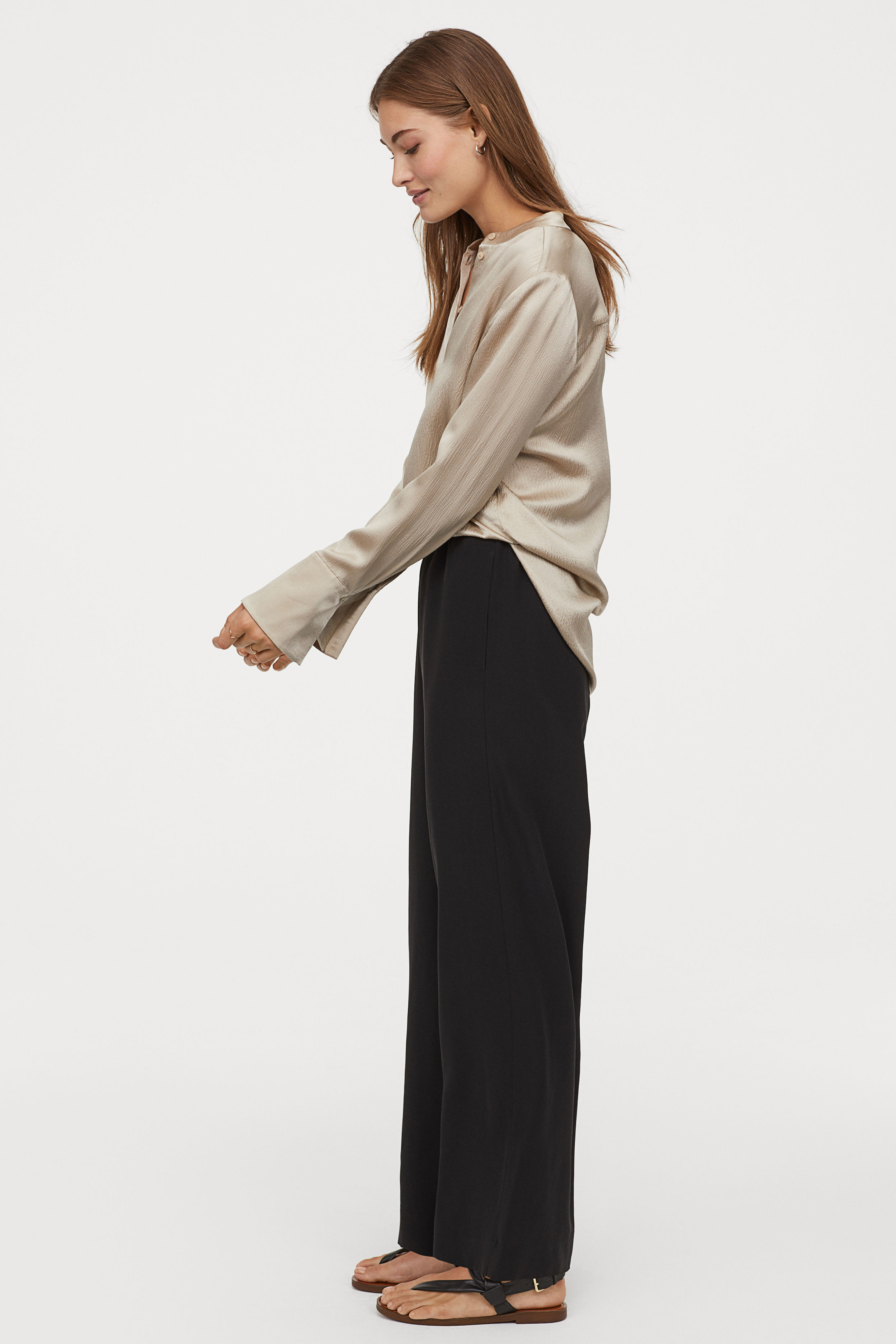 Silky Draped Pants