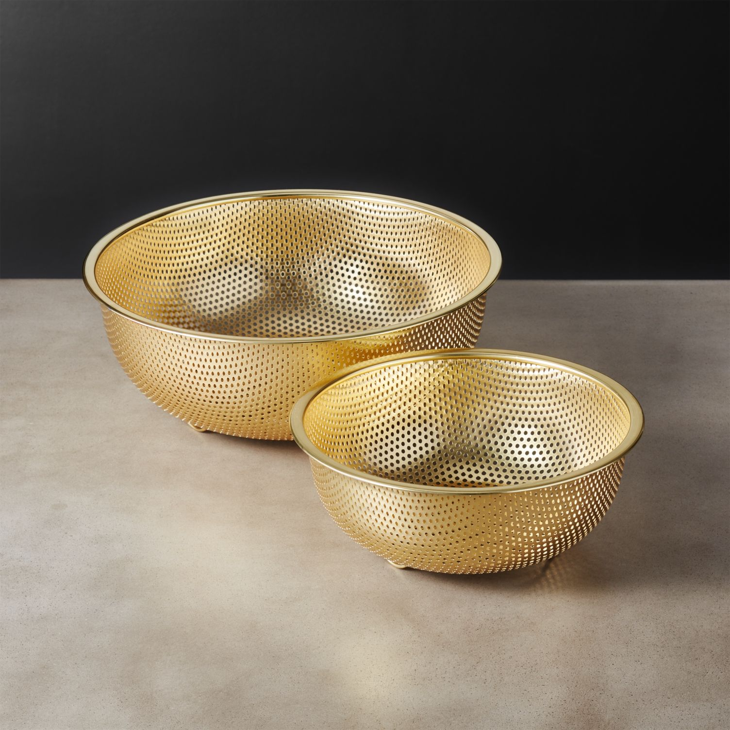 Two Piece Gold Strainer