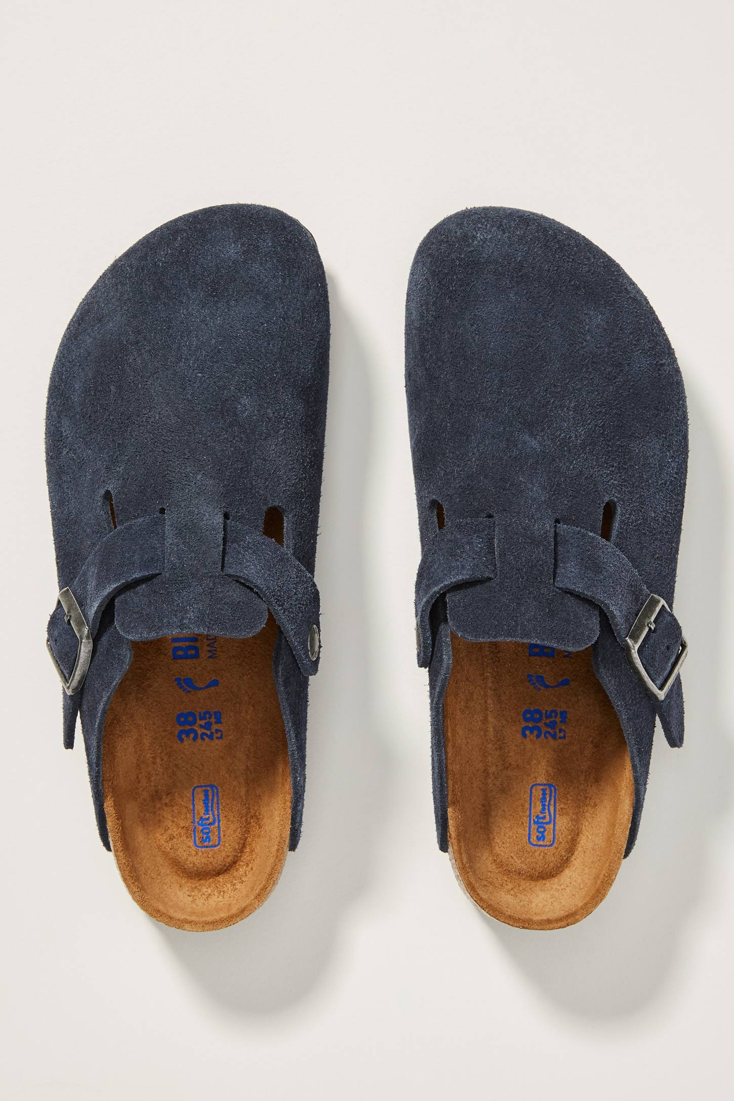 Navy Slip On Clogs