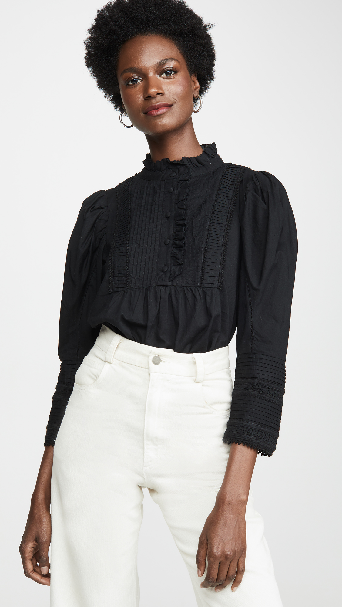 Long Puff Sleeve Blouse
