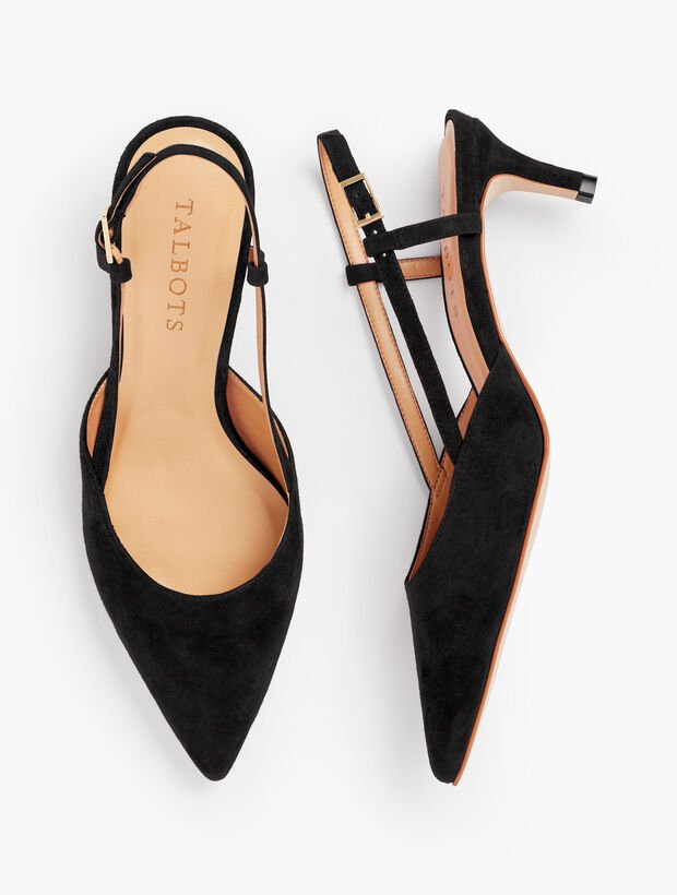 Black Slingback Pumps