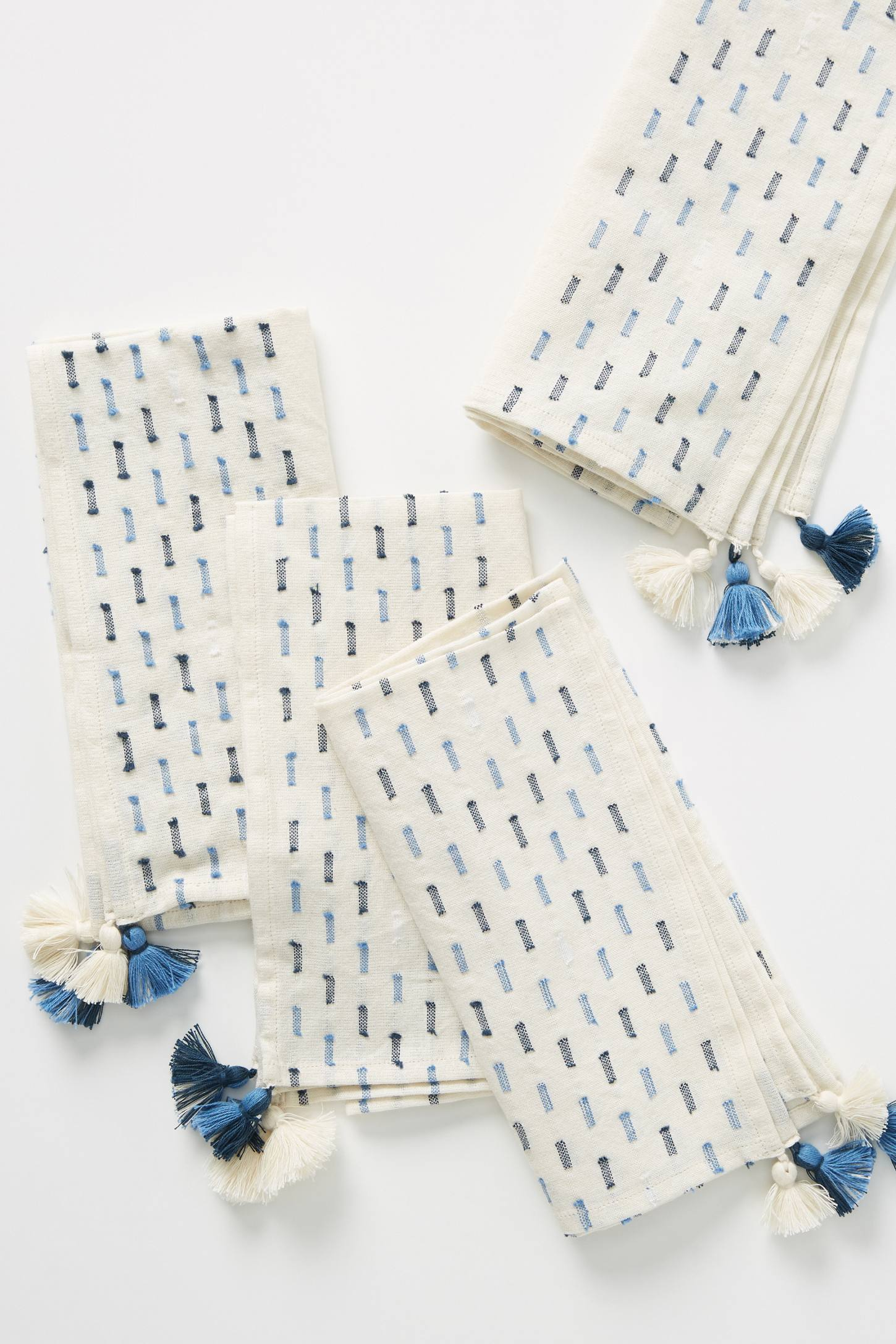 Blue Geometric Print Napkin Set