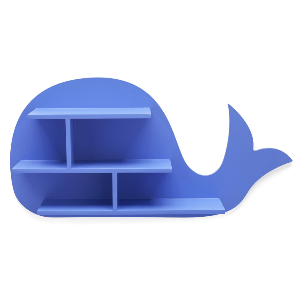 Blueberry Whale Wall Shelf Nursery Decor Children's Room