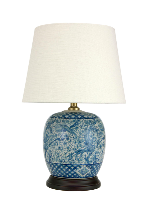 Blue and White Chinese Ginger Jar Table Lamp
