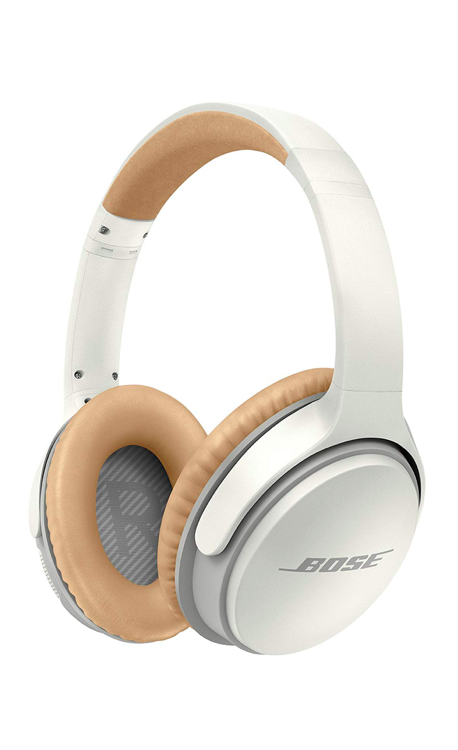 Bose Wireless headphones White Camel Brown Leather