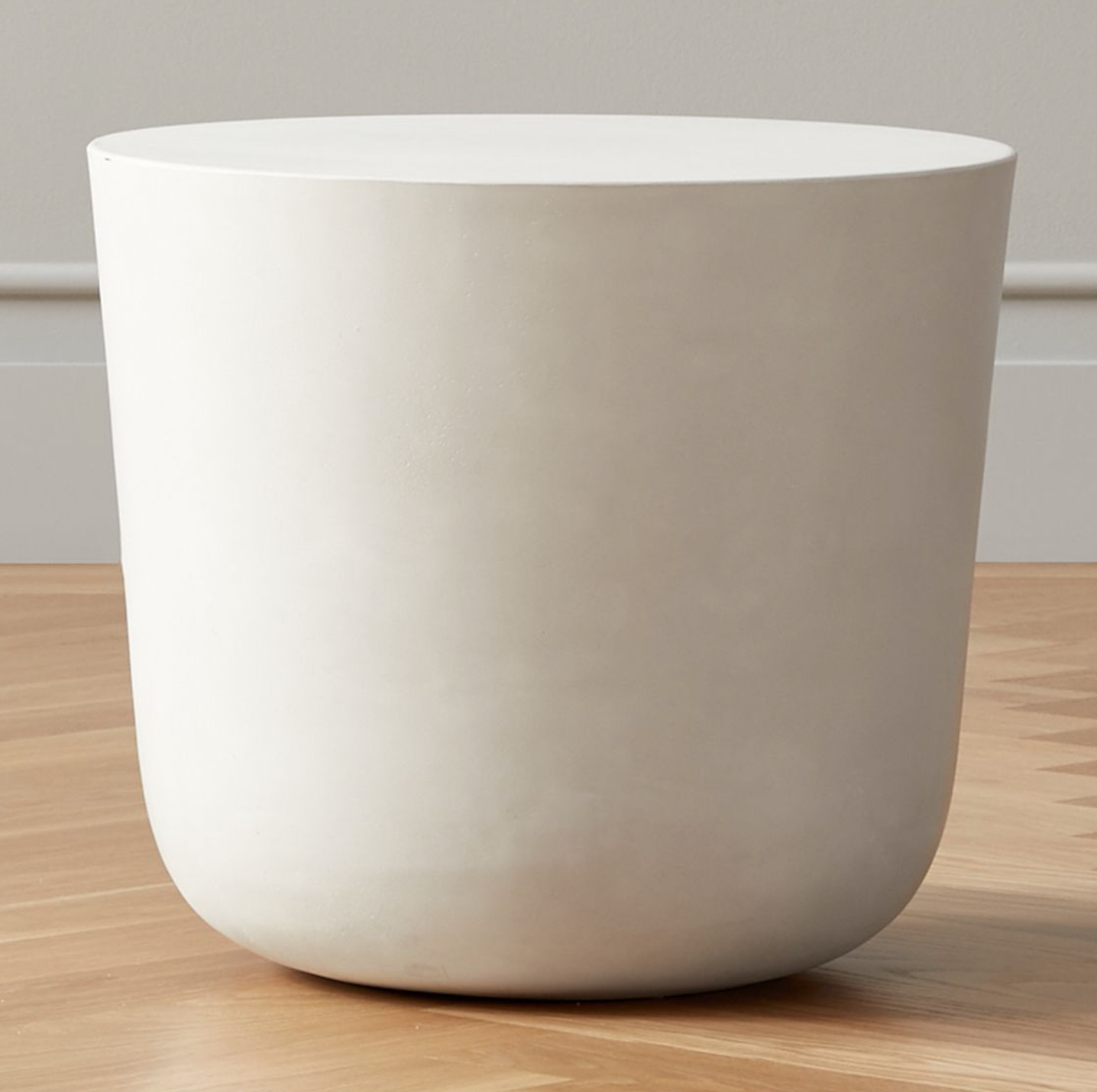 Round Cement Side Table