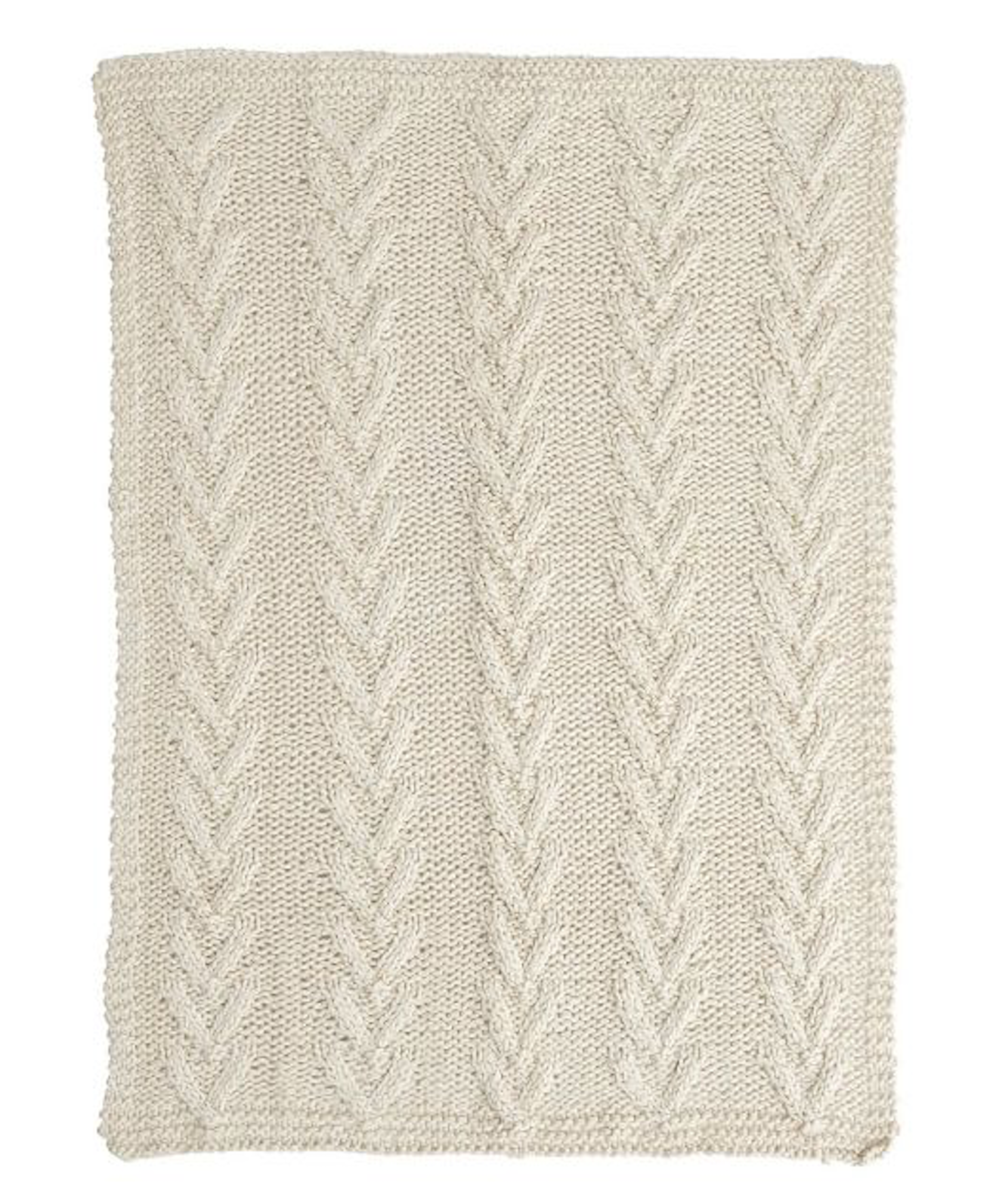 Cream Hand knit Throw