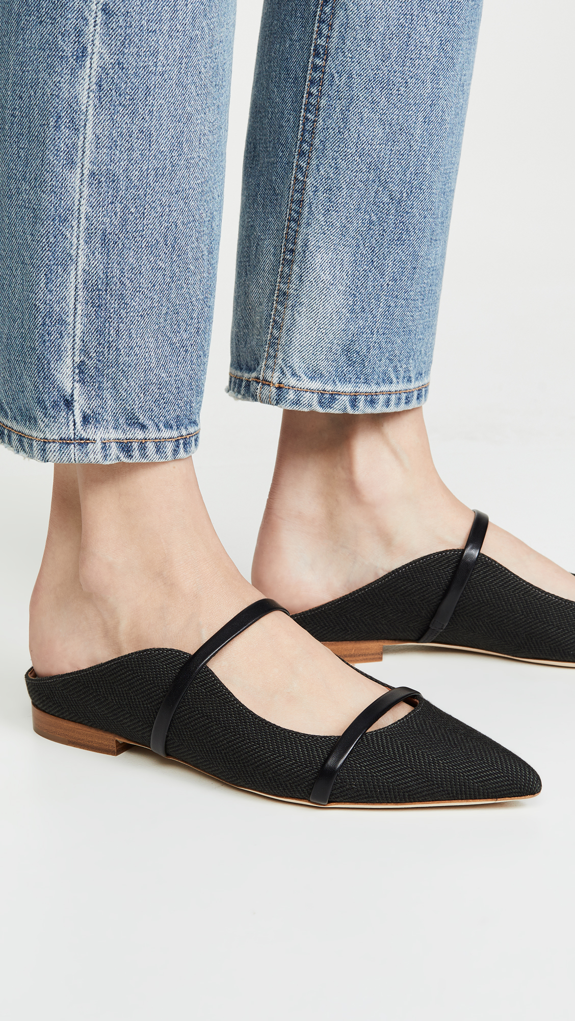 Pointed Toe Strappy Mules